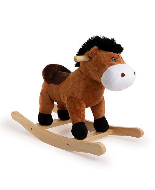 Ponyland Rocking Brown Horse with Sound Rocker