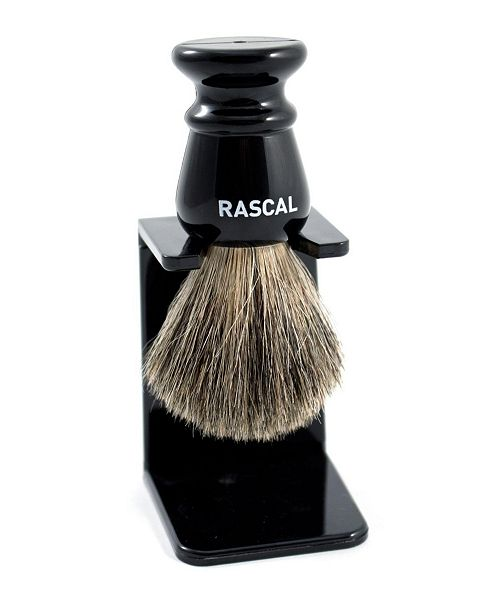 Rascal Ebony Pure Badger Saving Brush
