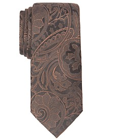 Men's Fenton Slim Paisley Silk Tie, Created For Macy's