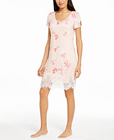 Charter Club Lace-Trim Sleep Shirt Nightgown, Created for Macy's