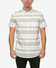 Men's Rivera Striped Short Sleeve Button Up Shirt