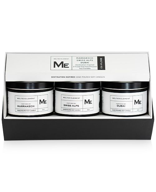 Melted Element 3-Pc. Explore Travel Candle Gift Set