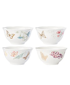 Butterfly Meadow Gold - 20th Anniversary Rice Bowl Set/4 Assorted