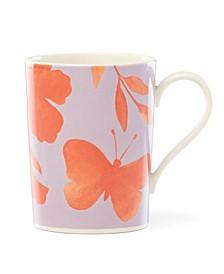 Petal Lane Floral Mug Orange Flower