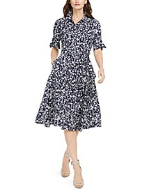 Floral-Print Midi Shirtdress, Created for Macy's