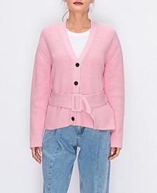 Cardigan Sweater with Belt
