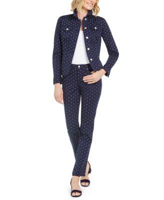 Polka-Dot Lexington Straight-Leg Jeans, Created For Macy's