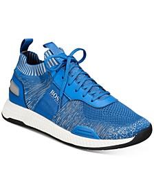 HUGO Men's Titanium Run Knit Sneakers