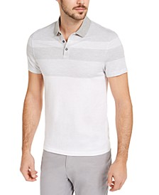 Men's Twill Striped Polo Shirt, Created for Macy's