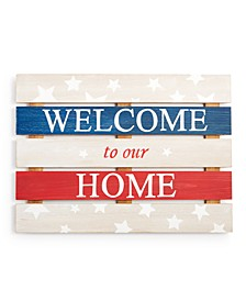 "CLOSEOUT! Americana ""Welcome to Our Home"" Wall Art, Created for Macy's"
