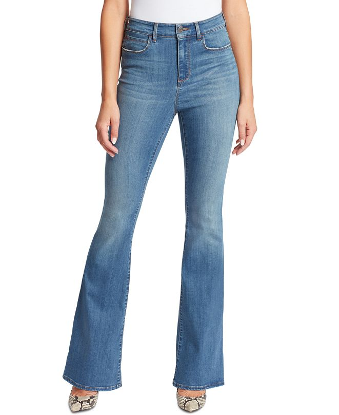 Skinnygirl Women's Julia High-Rise Flare Jeans
