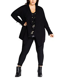 Trendy Plus Size Cascade Cardigan