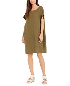 Textured Organic Cotton Shift Dress