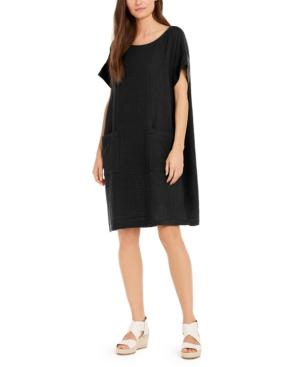 Eileen Fisher Dresses TEXTURED ORGANIC COTTON SHIFT DRESS