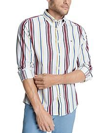 Men's Striped Stretch Shirt