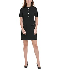 Mandarin-Collar Sheath Dress