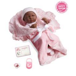 """La Newborn Nursery 15.5"""" African American Soft Body Baby Doll"""