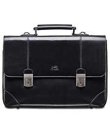 Signature Collection Dual Lock Double Compartment Laptop and Tablet Briefcase