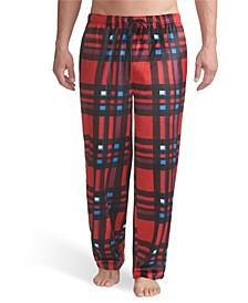 Men's Plaid Knit Fleece Pant