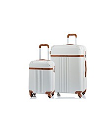 2-Pc. Vintage Hardside Luggage Set
