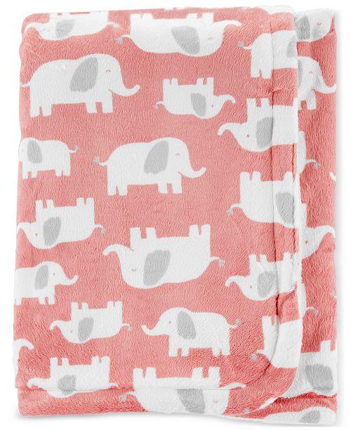 Carter's Baby Girls Plush Elephant Blanket