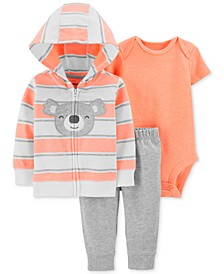 Baby Boys 3-Pc. Koala Hoodie, Bodysuit & Jogger Pants Set