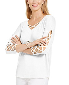 Ladder-Sleeve Top, Created for Macy's