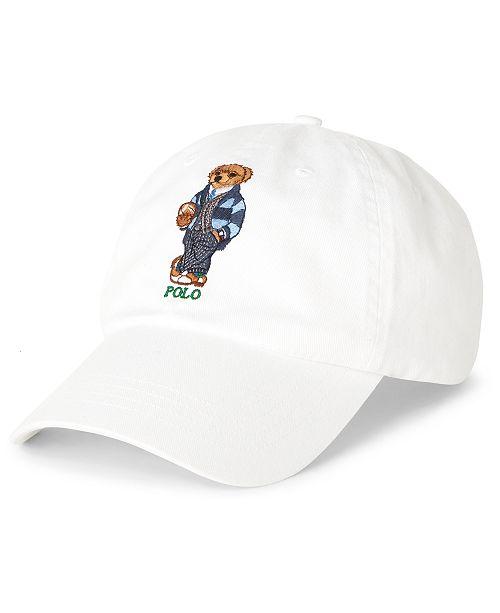 Polo Ralph Lauren Men's Preppy Bear Chino Cap