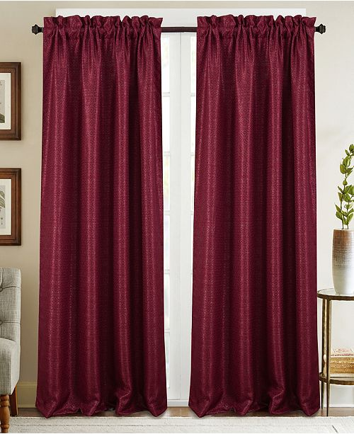 """RT Designers Collection Naples Textured Jacquard 53"""" x 84"""" Curtain Panel"""