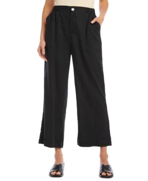 Karen Kane Cropped Wide-Leg Pants
