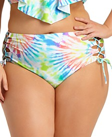 Size Tie-Dye High-Waist Bikini Bottoms, Created for Macy's