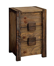 Transitional Style Night Stand, Brown