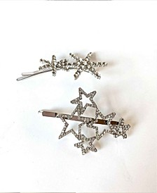 Crystal Stars Bobby Pin Set Two-Piece Set