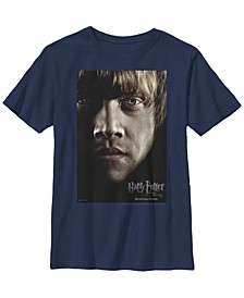 Harry Potter The Deathly Hallows Ron Poster Little and Big Boy Short Sleeve T-Shirt
