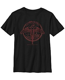 Harry Potter The Order of The Phoenix Line Art Little and Big Boy Short Sleeve T-Shirt
