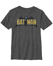 DC Comics Little and Big Boys Batman Logo Short Sleeve T-Shirt