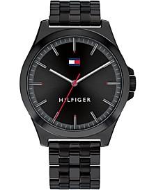 Men's Black Stainless Steel Bracelet Watch 42mm
