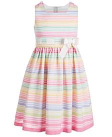 Big Girls Striped Bow Dress