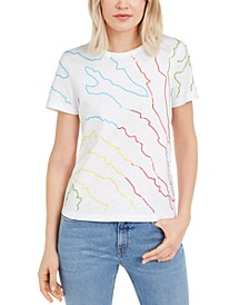 Cotton Sequined T-Shirt