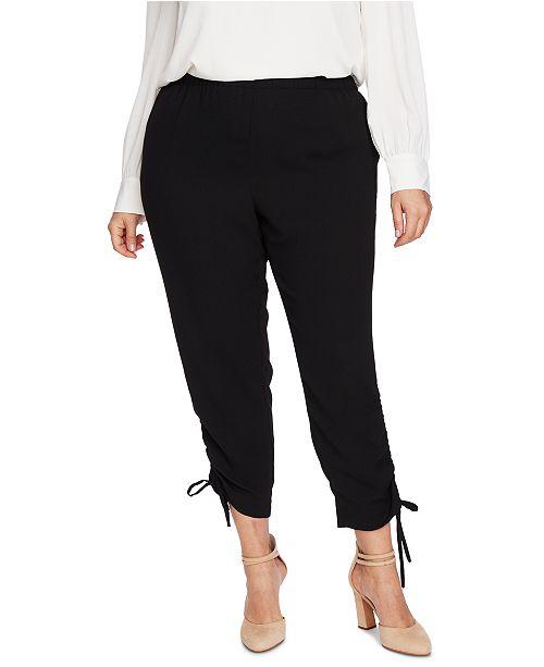 CeCe Plus Size Side-Ruched Pants