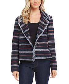 Fringe-Trim Jacket