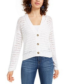 Juniors' Button-Front Cardigan