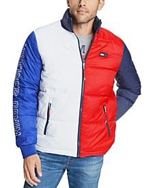 Men's Colorblocked Puffer Jacket