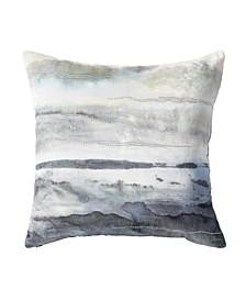 Brushed Landscape Decorative Pillow
