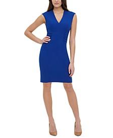 Side-Ruched Sheath Dress