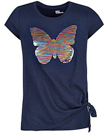 Big Girls Reversible-Sequin Butterfly T-Shirt, Created For Macy's