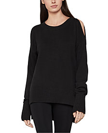 BCBGMAXAZRIA Cold-Shoulder Sweater