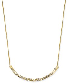 "Pavé Twist Bar Collar Necklace, 17"" + 2"" extender, Created for Macy's"