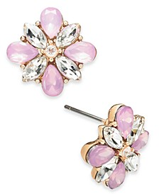 Gold-Tone Crystal & Stone Cluster Stud Earrings, Created for Macy's