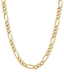 "Figaro Link 18"" Chain Necklace in 18k Gold-Plated Sterling Silver"
